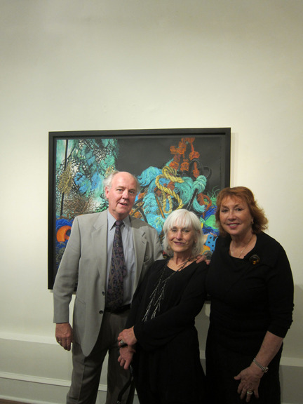 &lt;p&gt;&lt;span style=&quot;font-size: 80%;&quot;&gt;Director, Anthony Seraphin, with artist, Joan Wadleigh Curran, and Judith Seraphin.&lt;/span&gt;&lt;/p&gt;<br/>&lt;p&gt;&lt;span style=&quot;font-size: 80%;&quot;&gt;Joan Wadleigh Curran&lt;br /&gt;&lt;em&gt;Accumulation&lt;br /&gt;&lt;/em&gt;&lt;br /&gt;Seraphin Gallery, Philadelphia, PA&nbsp;&lt;/span&gt;&lt;/p&gt;