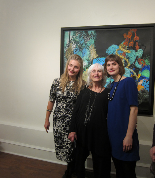 &lt;p&gt;&lt;span style=&quot;font-size: 80%;&quot;&gt;Artist, Joan Wadleigh Curran, with her two daughters.&lt;/span&gt;&lt;/p&gt;<br/>&lt;p&gt;&lt;span style=&quot;font-size: 80%;&quot;&gt;Joan Wadleigh Curran&lt;br /&gt;&lt;em&gt;Accumulation&lt;br /&gt;&lt;/em&gt;&lt;br /&gt;Seraphin Gallery, Philadelphia, PA&nbsp;&lt;/span&gt;&lt;/p&gt;
