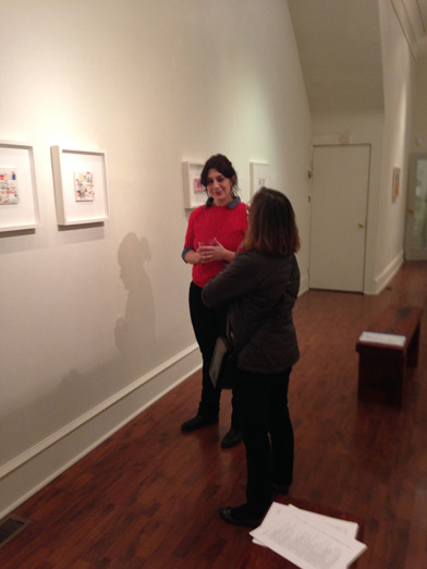 &lt;p&gt;&lt;span style=&quot;font-size: 80%;&quot;&gt;Anne Canfield discussing her work.&lt;/span&gt;&lt;/p&gt;<br/>&lt;p&gt;&lt;span style=&quot;font-size: 80%;&quot;&gt;Seraphin Gallery, Philadelphia, PA&lt;/span&gt;&lt;/p&gt;