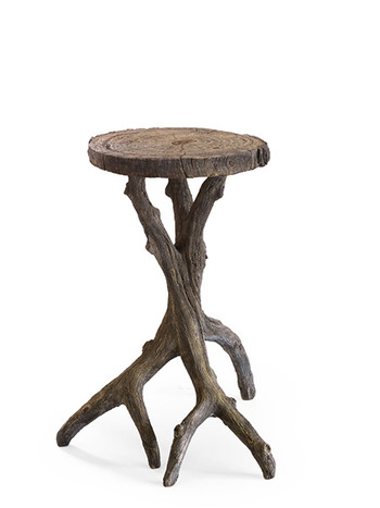 Faux Bois Small Drinks Table
