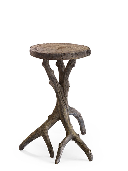 Michael Fogg Faux Bois Gallery Small Drinks Table