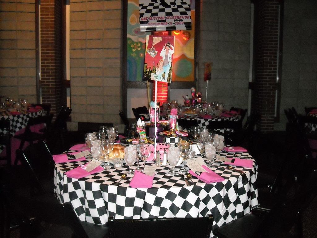 Gold Eventsbat Mitzvah Sock Hop Table Jpg Gold
