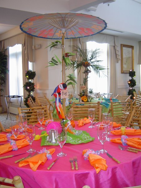 Luau Themed Bat Mitzvah Meadowbrook Country Club Gold