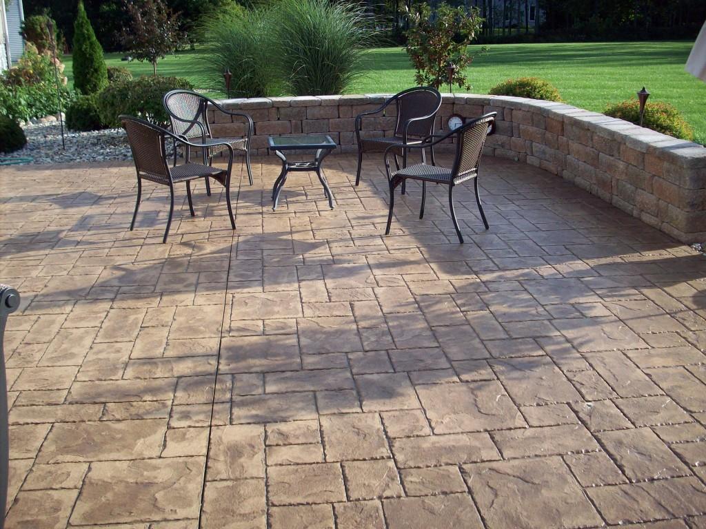 Cement Backyard Pictures :  Back Yard Stamping Concrete Patios > patioconcretebackyardjpg