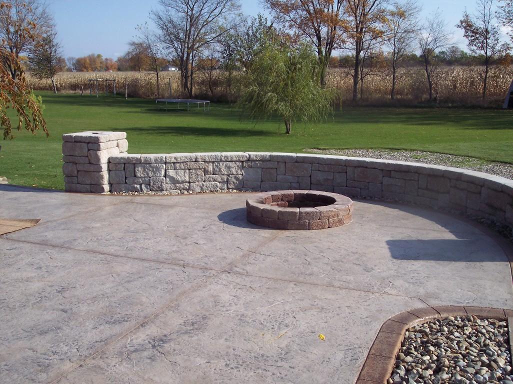 Custom Backyard Patios : patioconcretemasonjpg  Custom Back Yard Stamping Concrete Patios