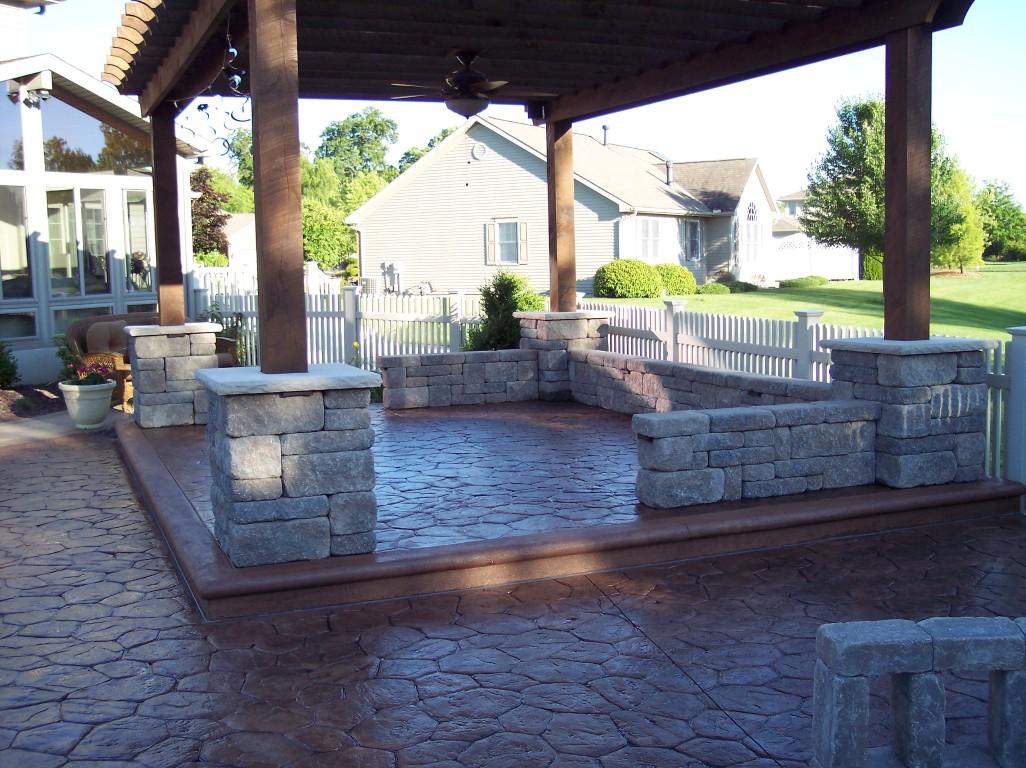 Patio Concrete Mason Nappanee Indiana Jpg Custom Back