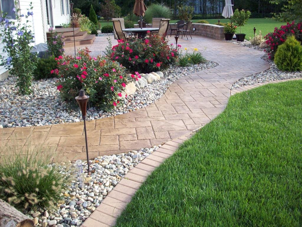Patio Backyard Landscaping :  Yard Stamping Concrete Patios > patioconcretestamperlandscapejpg