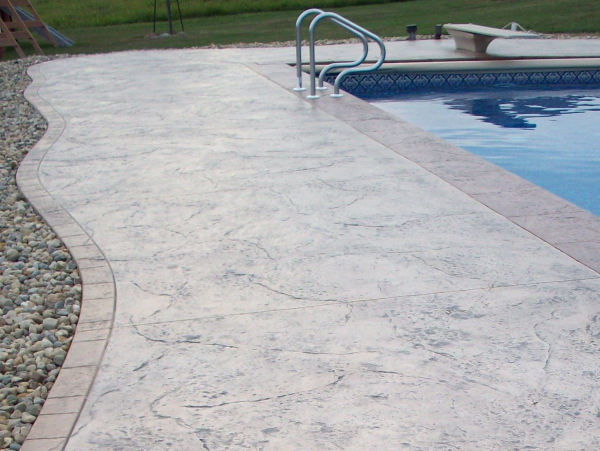 michiana concrete stamping pool decks -