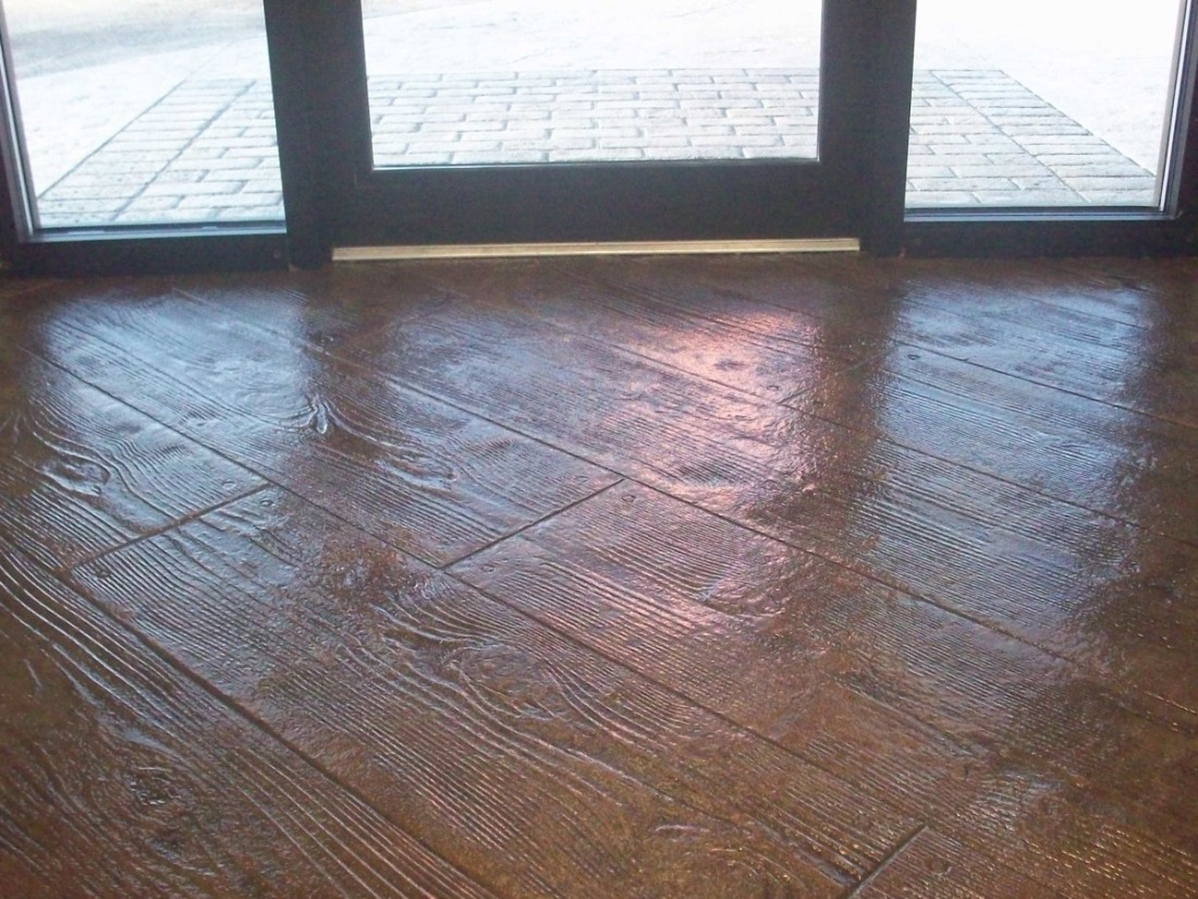 Indoor Concrete Flooring : Indoor floor stamped concrete g custom back yard