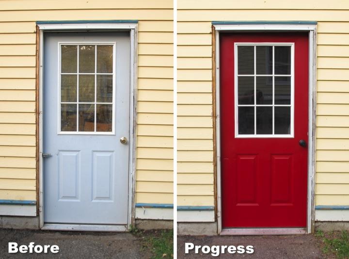 Painting My Garage Door Red