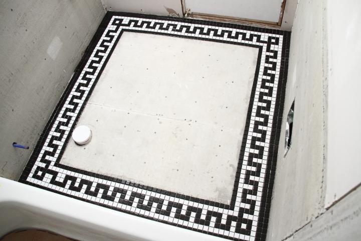 Vintage Mosaic Tile Border For The Downstairs Bathroom Blog Homeandawaywithlisa