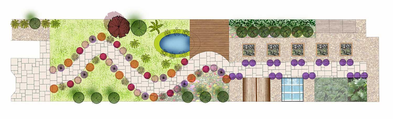 Long Thin Garden Design In Shrewsbury Hornby Garden Designs Garden Ideas Garden Patio Ideas Garden Landscaping Ideas Design My Garden House Garden Design Shrewsbury Uk