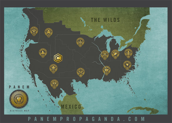Map Of Panem Panem Maps   Panem Propaganda Map Of Panem