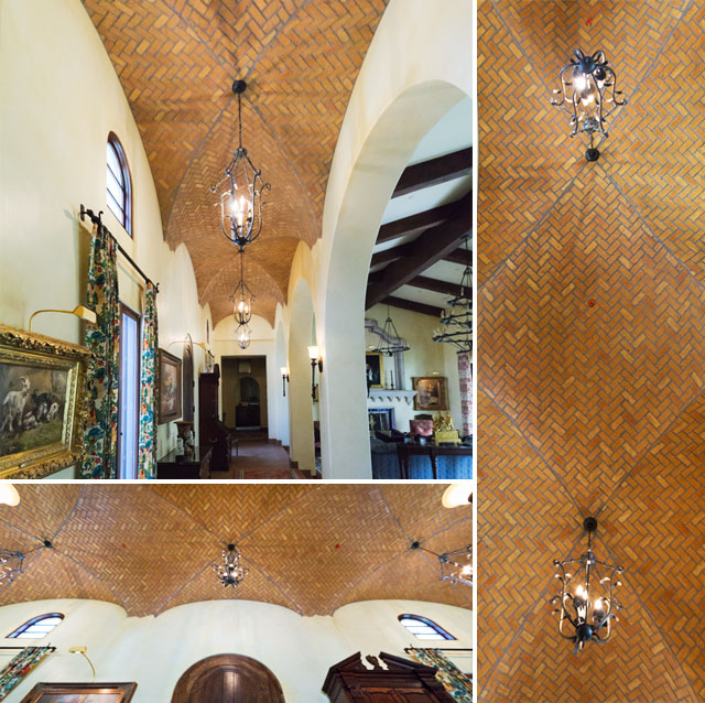 Faux Brick Vaulted Ceiling