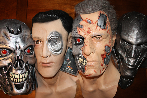 T Rubber Halloween Fancy Dress 1000 Mask Head Terminator T
