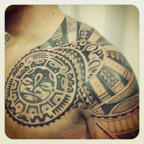 3d4d07739 Polynesian Chest Tattoo - Heart for Art - Tattoo Shop - Manchester ...