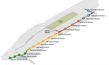 2 Ave Subway Map.Second Avenue Subway Groundbreaking Home New York Journal