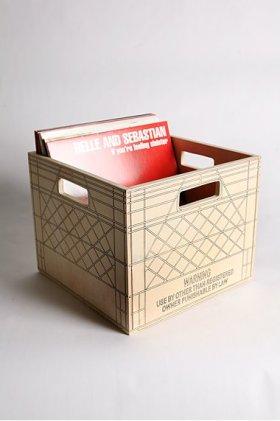 Milk Crate Lp Storage Dandk Organizer
