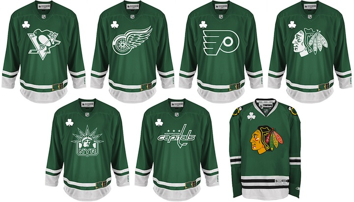 242f7d84d Only six teams had St. Patty s Day jerseys in stock. I m not sure how many  other teams have been made