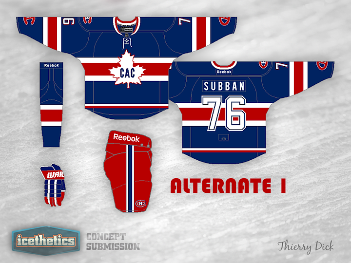 a7c4259b4 Are the Montreal Canadiens in need of a third jersey  Probably not. But  Thierry Dick has put together a couple anyway using some old logos on  jerseys that ...