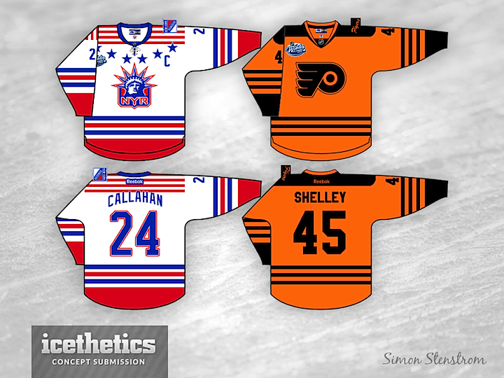 Prior to the 2012 NHL Winter Classic between the Flyers and Rangers —  August 2011 to be more precise — Simon Stenstrom submitted this concept for  the big ... c620910cb