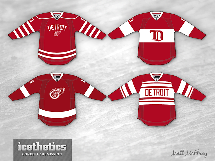 ad64034c9 Matt McElroy was not thrilled with the Detroit Red Wings  2014 Winter  Classic uniform. That s putting it mildly. He was so disappointed he came  up with not ...