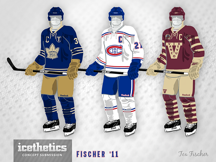 Tex Fischer put together these Heritage Classic-type throwback designs for  a trio of Canadian teams a couple years ago. bafdb2fe4