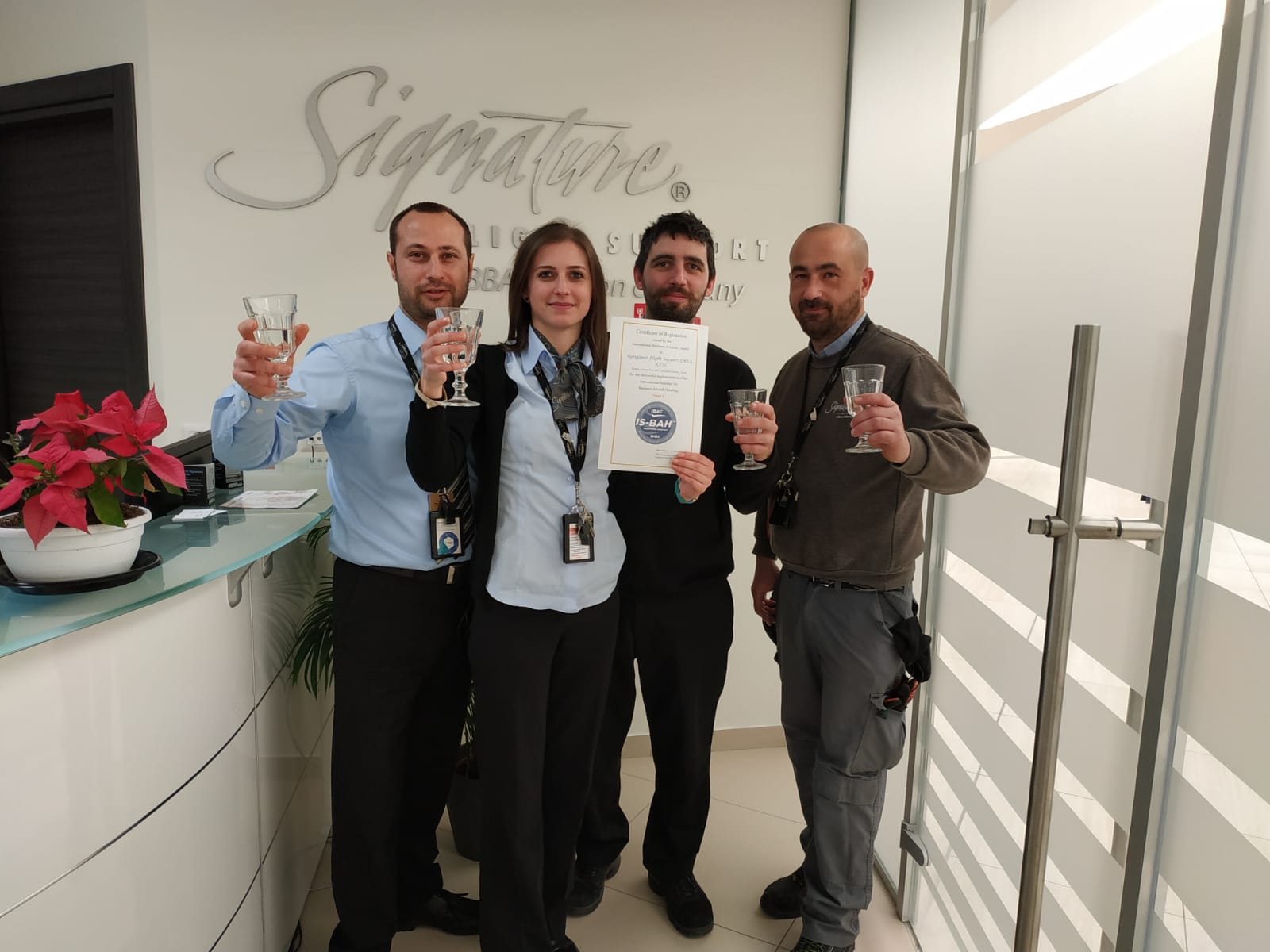 Signature Flight Support >> Signature Flight Support Italy Is The First In The Region To Earn Is