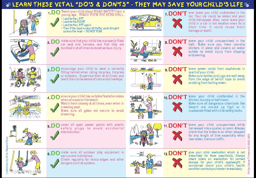 The Child Safety Campaign Established 1965 Do S And Dont S