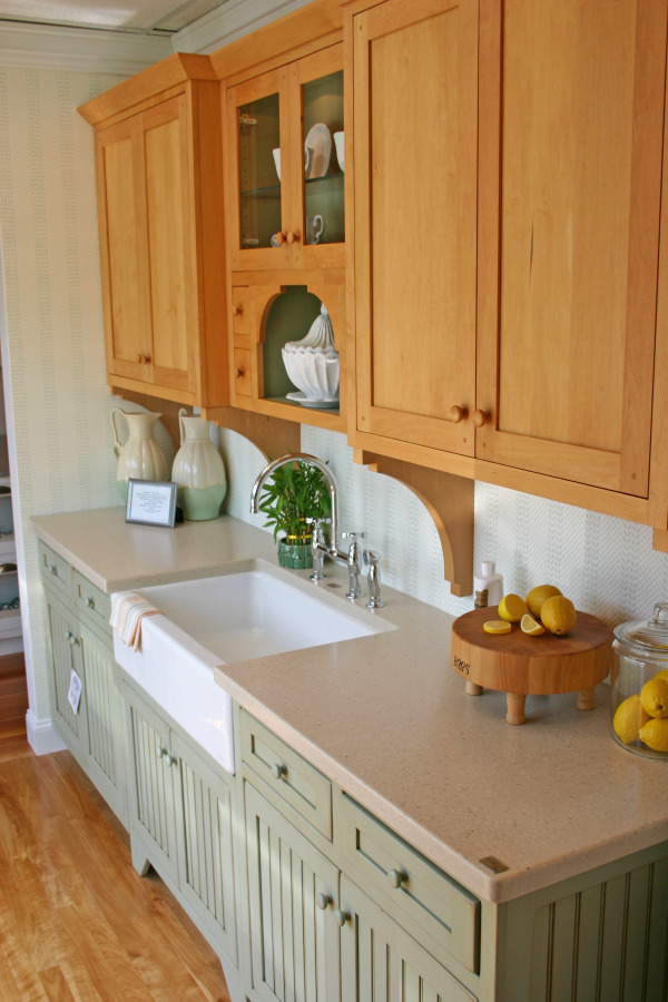painted and stained kitchen cabinets mixing painted and stained kitchen cabinets thenest 24338