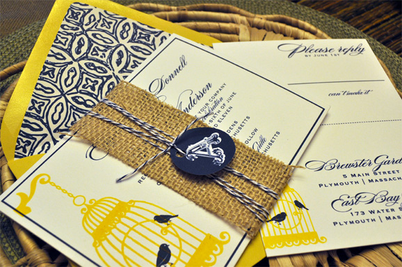 Blue And Yellow Wedding Invitations: Shopping By Color : Navy Blue + Yellow Invitations And