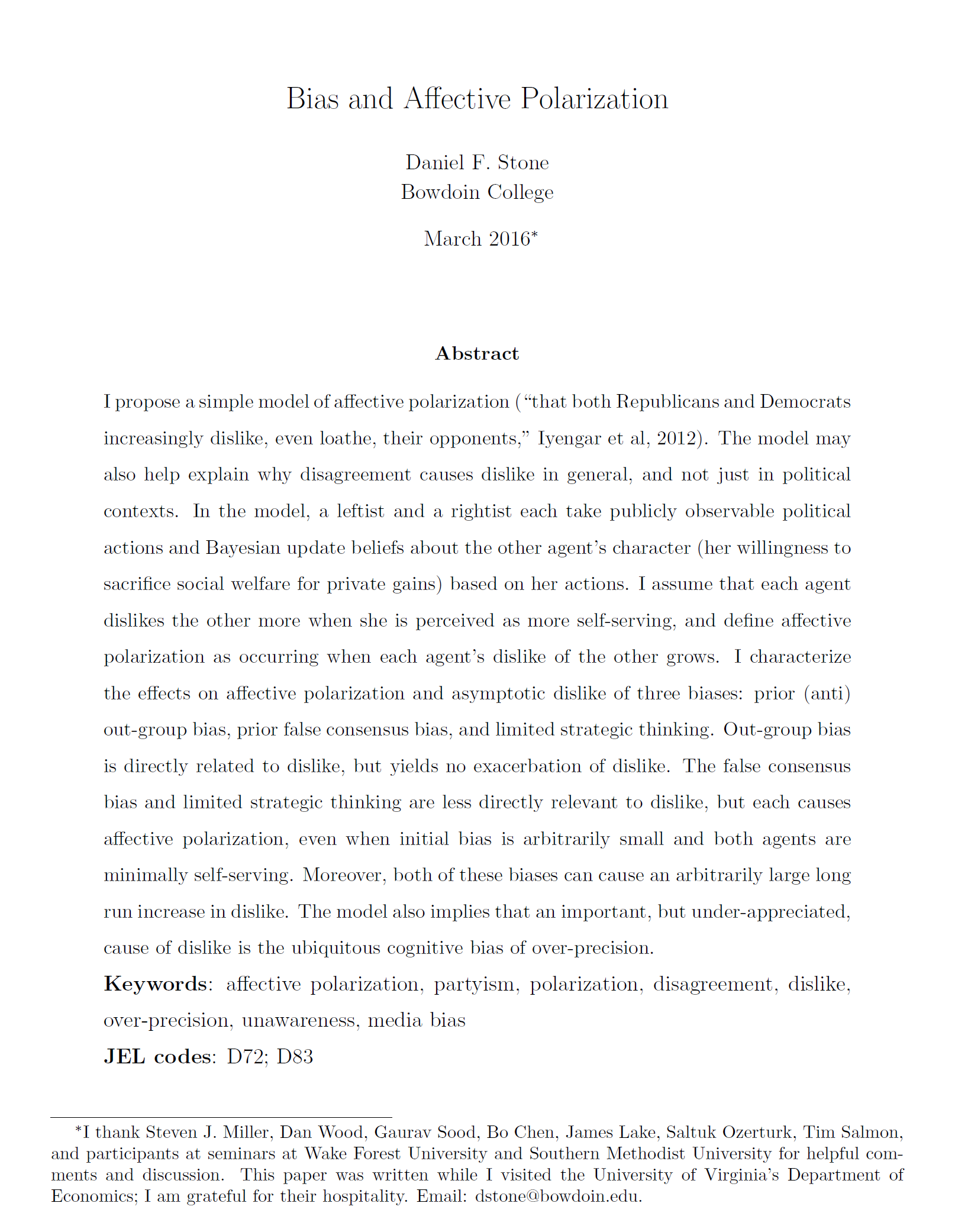 Humanities/Group Polarization And Competition In Political Behavior term paper 8365