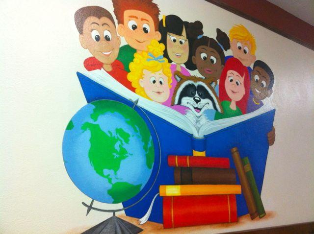 Library Murals A Pet Peeve Home Doug Johnson S Blue Skunk Blog