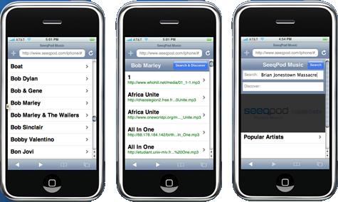seeqpod iphone