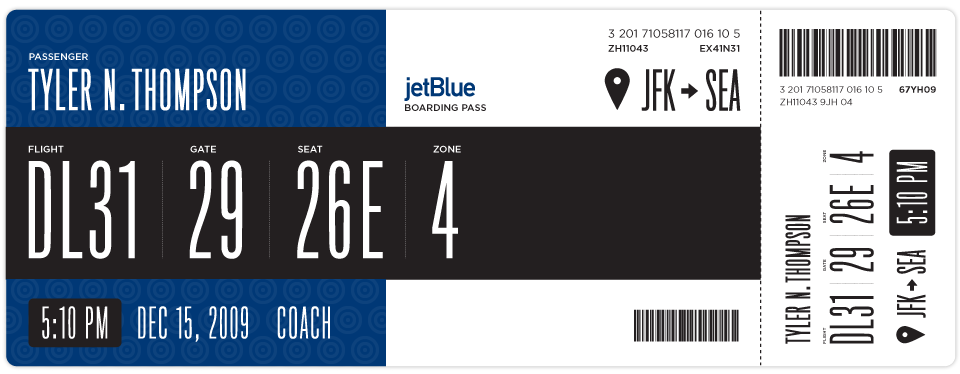 Redesigning The Boarding Pass Journal Boarding Pass Fail