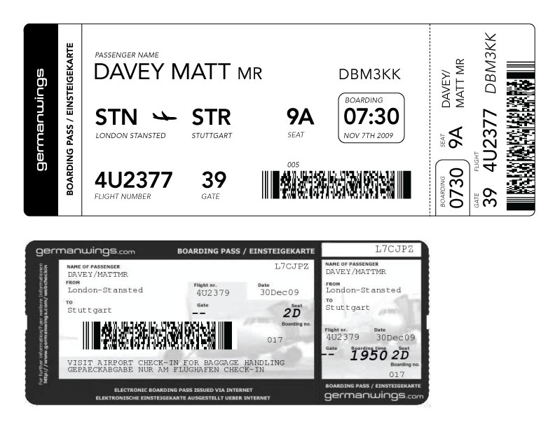 redesigning the boarding pass - journal   fail