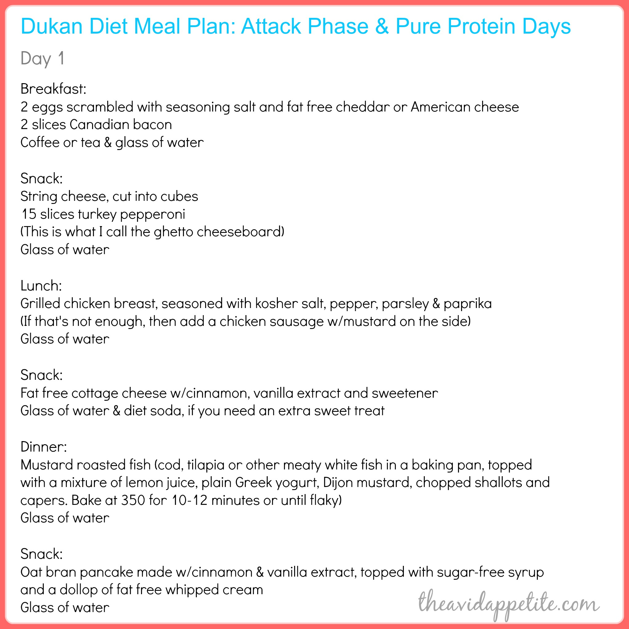 How To Find My House Plans The Avid Appetite The Avid Appetite Dukan Meal Plan