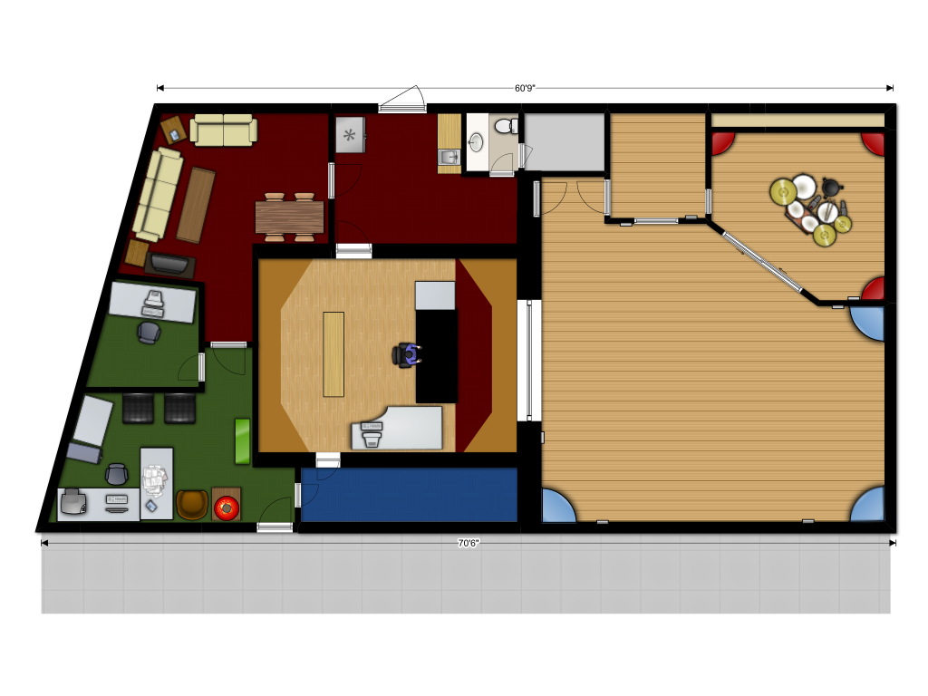 Floor Plan Of Small House Strawberry Skys Recording Studio Floor Plan