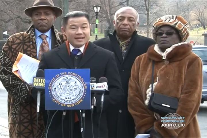 Comptroller John Liu pushes for closure in the Central Park