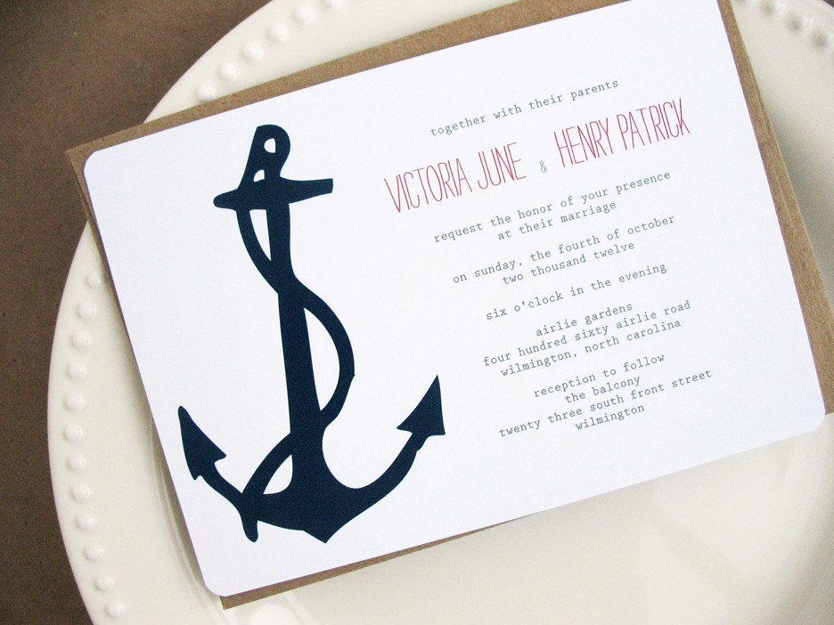 nautical wedding invitations anchor  new wedding, invitation samples