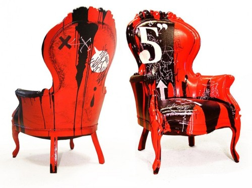 Red Black Custom Painted Chairs By Stephen Selzler ...