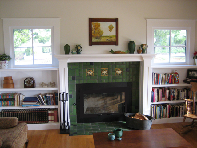 The official blog of the new york institute of art and for Arts and crafts fireplace tile