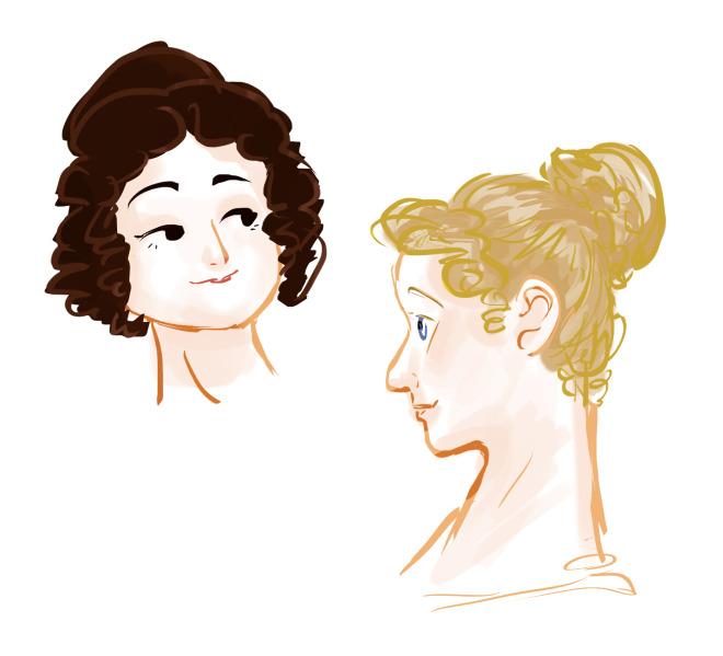 imogen scoppie online latest illustration pride and prejudice doodle