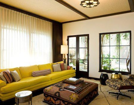 Living Rooms With Yellow Couches | Ayathebook.com
