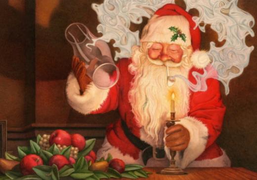 Simon Clark Taking Liberties Happy Christmas Santa