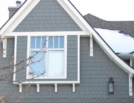 So you think a gray house with white trim is boring - White house gray trim ...