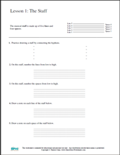 Free Printable Music Worksheets | Opus Music Worksheets