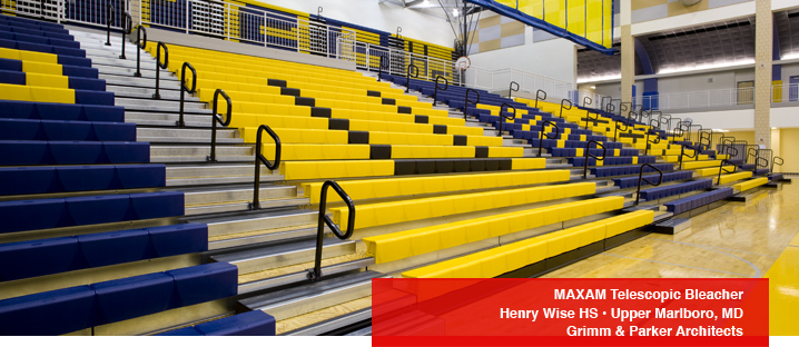 Gym Bleachers And Retractable Indoor Seating Hussey Seating