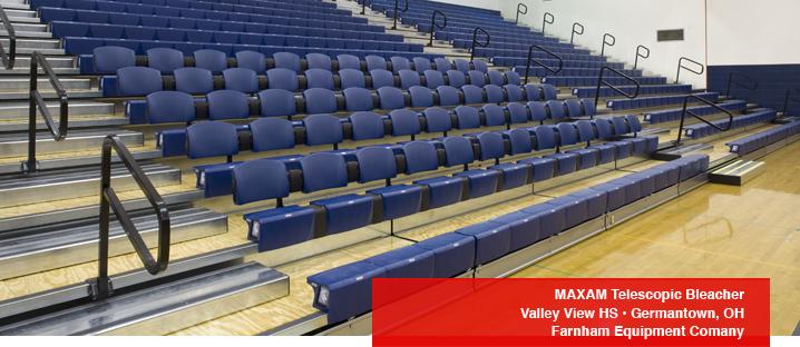 Maxam Telescopic Gym Seating Photos Hussey Seating