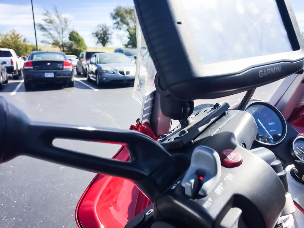 GPS mounting options for the K1200RS